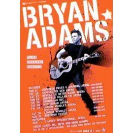 Bryan Adams - Uk Tour 2004 - AFFICHE / POSTER envoi en tube