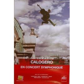 Calogero - En Concert Symphonique - AFFICHE / POSTER envoi en tube