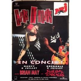 Guns N' Roses - 1993 / Brian May - AFFICHE / POSTER envoi en tube