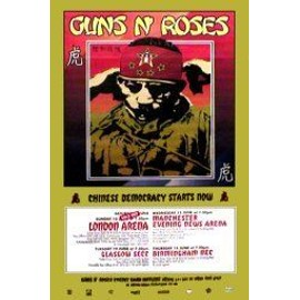 GUNS N' ROSES - UK Tour 2001 - Original Promo Poster - AFFICHE / POSTER envoi en tube