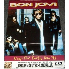 Bon Jovi - Keep The Faith Tour 1993 - AFFICHE / POSTER envoi en tube