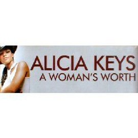 ALICIA KEYS - A Women's Worth - Banner - AFFICHE / POSTER envoi en tube