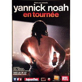 Yannick NOAH - - AFFICHE / POSTER envoi en tube