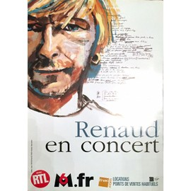 RENAUD - En Concert - AFFICHE / POSTER envoi en tube
