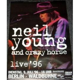 Neil Young - Live Tour 1996 - AFFICHE / POSTER envoi en tube