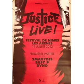 Justice - Live! - AFFICHE / POSTER envoi en tube