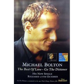 Michael BOLTON - The Best Of Love - AFFICHE / POSTER envoi en tube