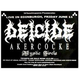 DEICIDE - Live In Edinburgh 2004 - AFFICHE / POSTER envoi en tube