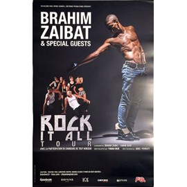 Brahim Zaibat - Rock It All - AFFICHE / POSTER envoi en tube