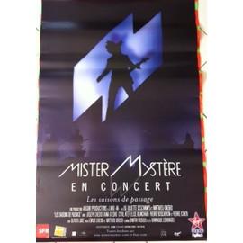M - Mathieu CHEDID - Mister Mystère - AFFICHE / POSTER envoi en tube