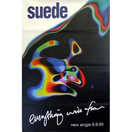 SUEDE - Everything Will Flow - AFFICHE / POSTER envoi en tube