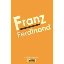 FRANZ FERDINAND - Logo Orange - White Promo Poster - AFFICHE / POSTER envoi en tube