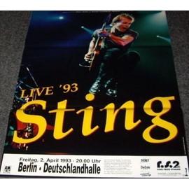 Sting - Live 1993 - AFFICHE / POSTER envoi en tube