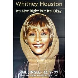 Whitney Houston - It's Not Right - AFFICHE / POSTER envoi en tube