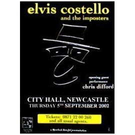 Elvis COSTELLO - Newcastel 2002 - AFFICHE / POSTER envoi en tube