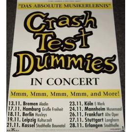 Crash Test Dummies - - AFFICHE / POSTER envoi en tube