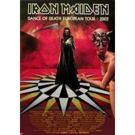 IRON MAIDEN - Dance of Death European Tour 2003 - AFFICHE / POSTER envoi en tube