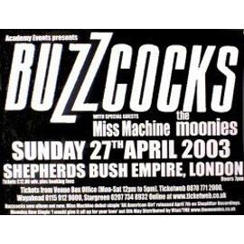 BUZZCOCKS - Shepherds Bush Empire 2003 - AFFICHE / POSTER envoi en tube