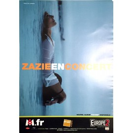 Zazie - Totem Tour - AFFICHE / POSTER envoi en tube