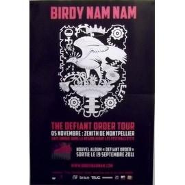 Birdy Nam Nam - Defiant Order Tour - AFFICHE / POSTER envoi en tube