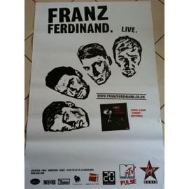 FRANZ FERDINAND - - AFFICHE / POSTER envoi en tube