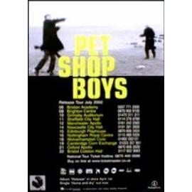 PET SHOP BOYS - Release Tour 2002 - AFFICHE / POSTER envoi en tube