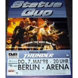 Status Quo - Whatever Tour 1998 - AFFICHE / POSTER envoi en tube