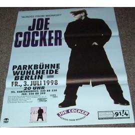 Joe Coocker - Tour 1998 - AFFICHE / POSTER envoi en tube