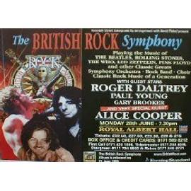 Alice Cooper - British Rock Symphony - AFFICHE / POSTER envoi en tube