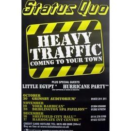 STATUS QUO - Heavy Traffic - AFFICHE / POSTER envoi en tube