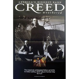 Creed - Weathered - AFFICHE / POSTER envoi en tube