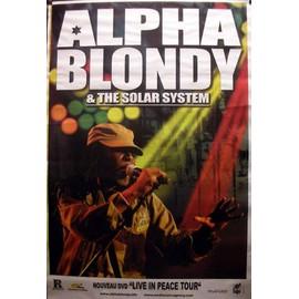 ALPHA BLONDY - Live In Peace Tour - AFFICHE / POSTER envoi en tube