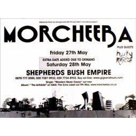 MORCHEEBA - Shepherds Bush Empire 2005 - AFFICHE / POSTER envoi en tube