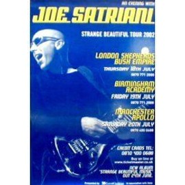 Joe SATRIANI - UK Tour - Original Promo Poster - AFFICHE / POSTER envoi en tube