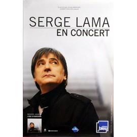 Serge LAMA - En Concert - AFFICHE / POSTER envoi en tube