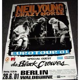 Neil Young - Euro Tour 2001 - AFFICHE / POSTER envoi en tube