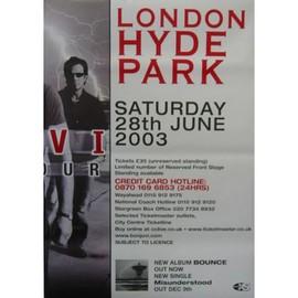 Bon Jovi - Hyde Park - AFFICHE / POSTER envoi en tube