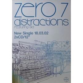 Zero 7 - Distractions - AFFICHE / POSTER envoi en tube