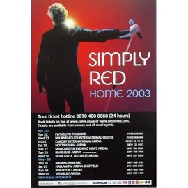 SIMPLY RED - - AFFICHE / POSTER envoi en tube
