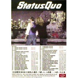 Status Quo - The Party Ain't Over Yet Tour 2005 - AFFICHE / POSTER envoi en tube