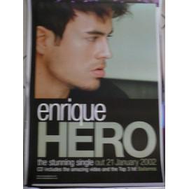Enrique Iglesias - Hero - AFFICHE / POSTER envoi en tube