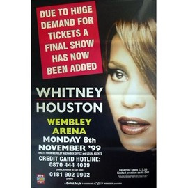 Whitney Houston - Wembley Arena - AFFICHE / POSTER envoi en tube