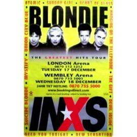 INXS - BLONDIE - London 17/18th December 2002 - Original Promo Poster - AFFICHE / POSTER envoi en tube