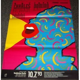 Fats Domino / Ray Charles - 1993 - AFFICHE / POSTER envoi en tube