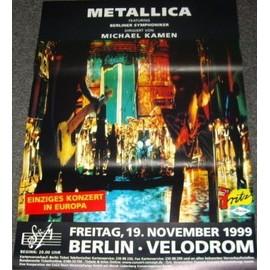 Metallica - Tour Symphonique - AFFICHE / POSTER envoi en tube