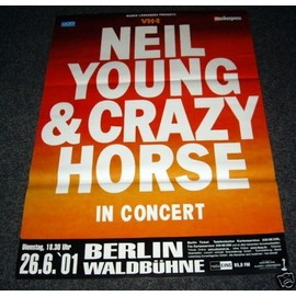 Neil Young - In Concert - AFFICHE / POSTER envoi en tube