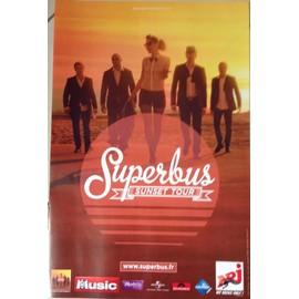 Superbus - Sunset Tour - AFFICHE / POSTER envoi en tube
