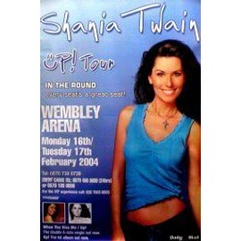 SHANIA TWAIN - Wembley Arena 16/17th February 2004 - Original Promo Poster - AFFICHE / POSTER envoi en tube