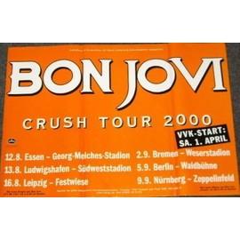 Bon Jovi - Crush Tour 2000 - AFFICHE / POSTER envoi en tube