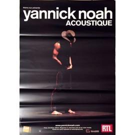 Yannick NOAH - Accoustic - AFFICHE / POSTER envoi en tube